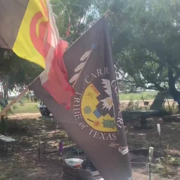 Carrizo Comecrudo tribal flags