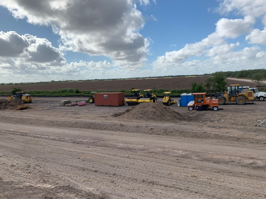 Crews clear path for South Texas' new border wall