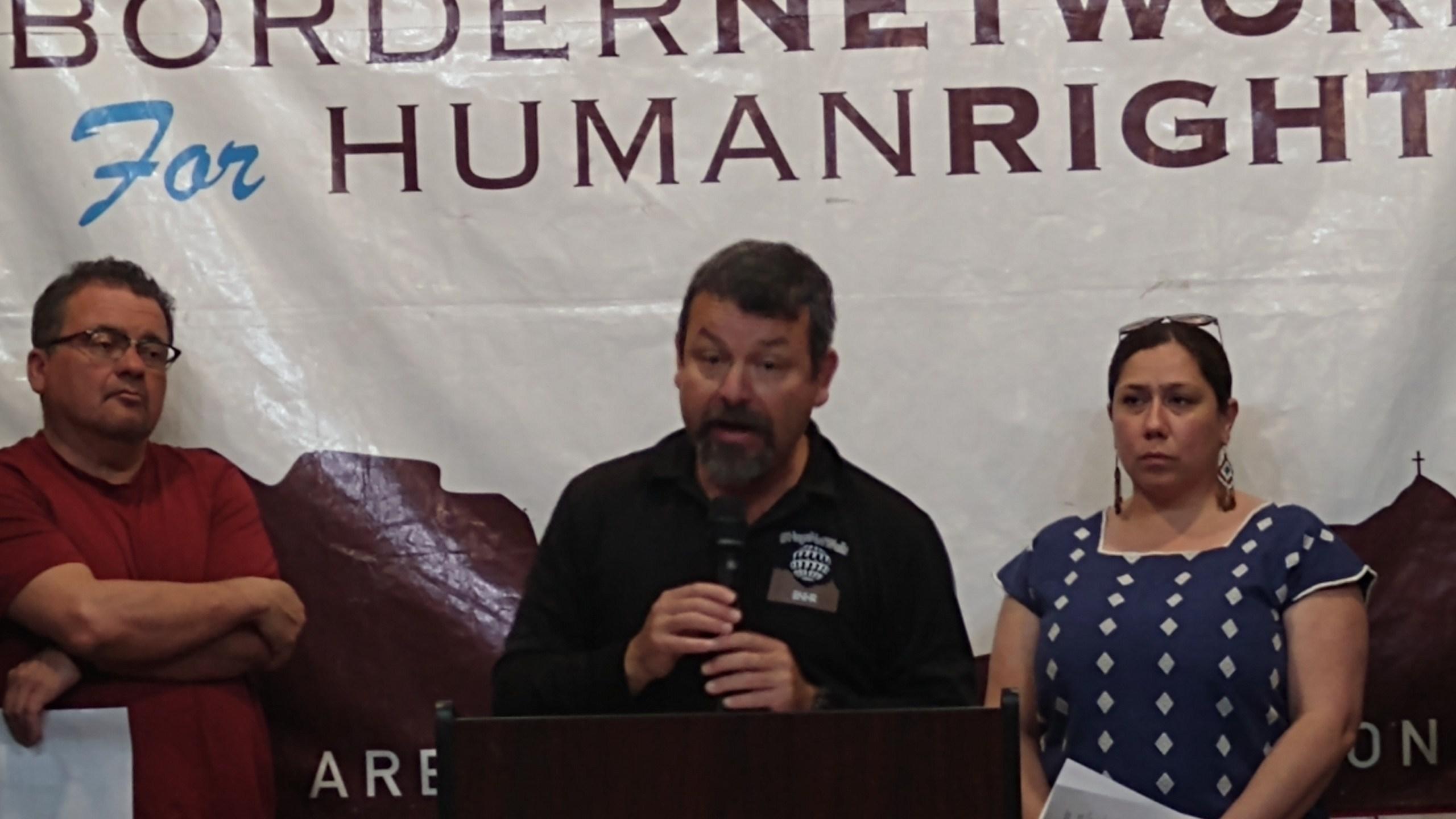 Fernando Garcia (center), executive director of El Paso's Border Network for Human Rights