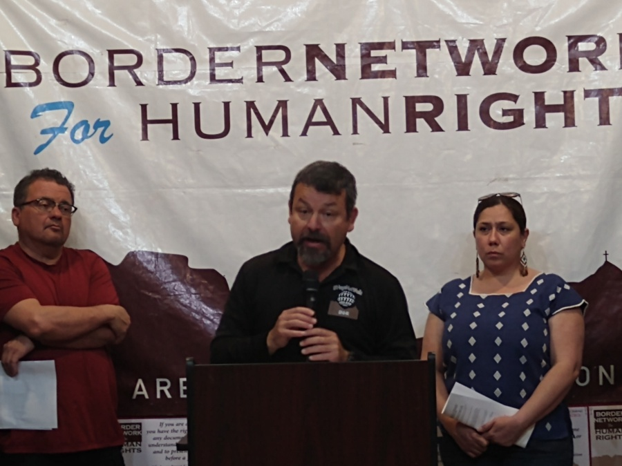 Fernando Garcia (center), executive director of El Paso's Border Network for Human Rights