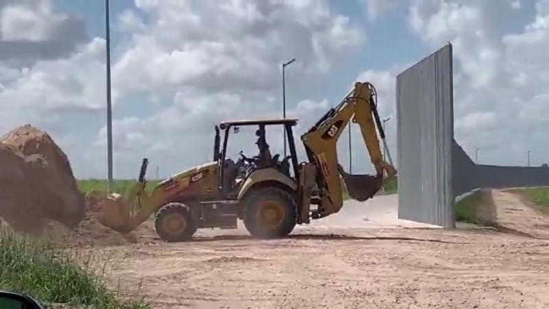 Ground repairs underway at site of private border wall in South Texas