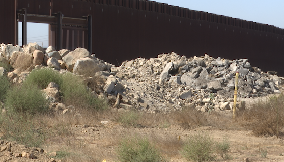 Border wall prototypes now nothing but abandoned rubble
