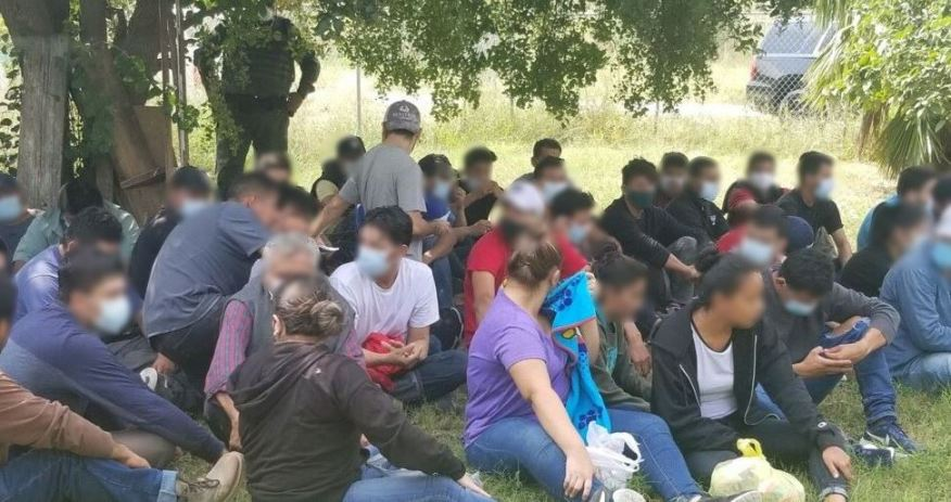 Undocumented immigrants removed from a stash house in the Rio Grande Valley Sector (Customs and Border Protection Photo)