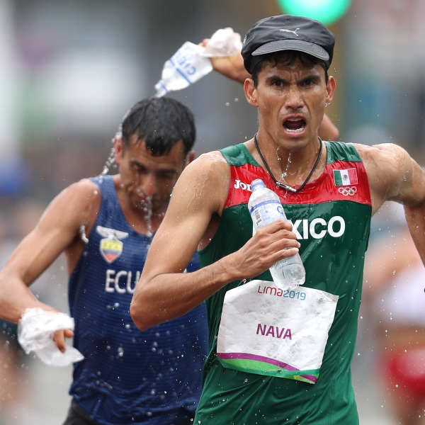 Horacio Nava Reza of Mexico races during the Men's 50km Walk Final on Day 16 of the Lima 2019 Pan American Games at Parque Kennedy on August 11, 2019 in Lima, Peru. (Photo by Patrick Smith/Getty Images)