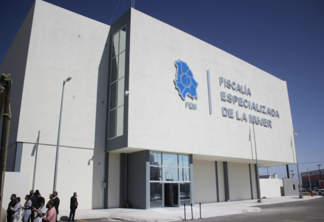 The new FEM building where Juarez, Mexico, police and prosecutors will investigate crimes against women. (State of Chihuahua Photo)