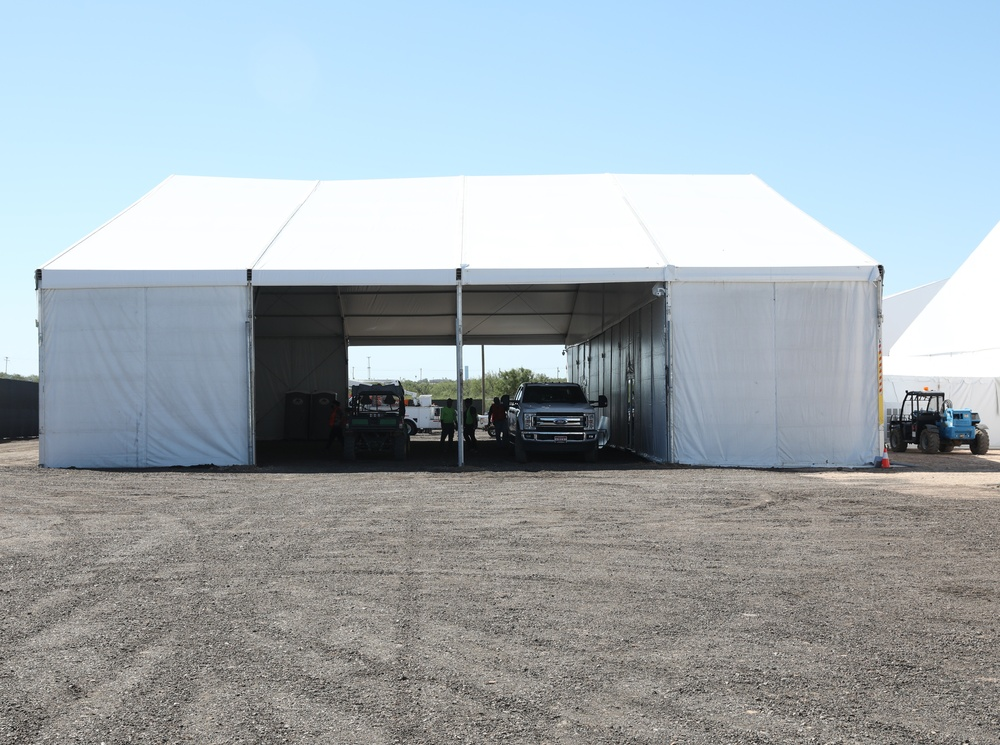 U.S. Customs and Border Protection on Friday, Sept. 24, 2021, opened a soft-sided tent facility capable of processing 500 migrants in Laredo, Texas. It has processed 2,000 migrants from Del Rio, Texas. (CBP Photo)